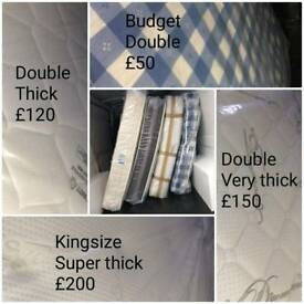 Double mattresses starting from £50