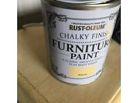Mustard yellow furniture paint