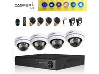 CCTV 4 CH DVR System Outdoor HD Home Kit Night Vision 1080p Wide Angle Cameras