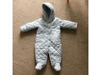 A very cosy soft and stylish pram suit. Brand - Ralph Lauren
