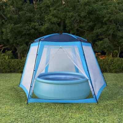 vidaXL Carpa para Piscinas 500x433x250cm Azul Accesorios para Jardín Terraza