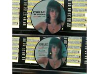 Joan Jett & The Blackhearts ‎– Crimson And Clover, VG, 7 inch picture disc single.