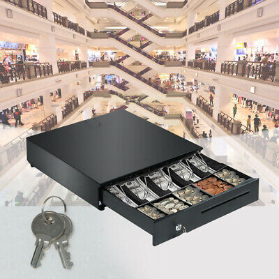 Heavy Duty Compact Black Manual Push-Open Cash Drawer with 5Bill/5Coin Till 2020 Cash Drawer Compact