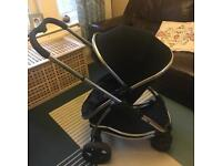 Icandy Strawberry Black Pram And Carry Cot with Extras