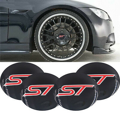 4x Wheel Center Hub Caps Emblem ST Badge Decal 56cm Sticker Fits For All S252