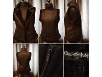 Black Fur Gilet size 16 uk by Miselfrigde