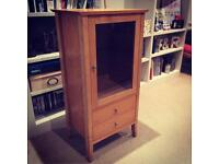 Glass-fronted wooden cabinet RRP £110