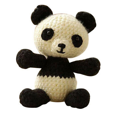 DIY Panda Doll Crochet Kit for Beginners Hand Knitting Animal Stuffed Toy for sale  Shipping to United Kingdom