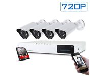 4x HD CCTV Security cameras with Free Installation £260