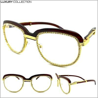 Men's Classy Elegant Luxury Designer Fashion Clear Lens EYE GLASSES Gold (Luxury Spectacles)
