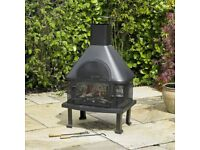 LOG BURNER BBQ CHIMINEA BARBECUE GARDEN PATIO OUTDOOR GRILL