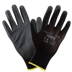 24x PU Coated Work Gloves Nylon Safety PPE Rubber Builder Gardening Engineering Diy Best Price