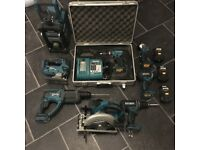Job Lot Of MAKITA 18v Power Tools With Batteries & Charger