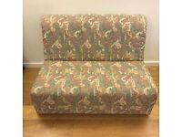 Retro comfortable small pullout sofa/sofabed
