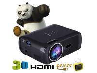 BRAND NEW,BL-80,WHITE,2000 lumen Mini LED HD 1080P Projector 3D