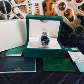 KING FACTORY Rolex Submariner Silver Back Face - Complete Set Box And Papers 1 Year Free