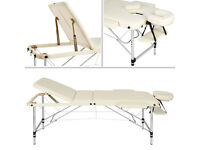 White Massage Table/Massage Couch complete with Bolster, Cover and Bag