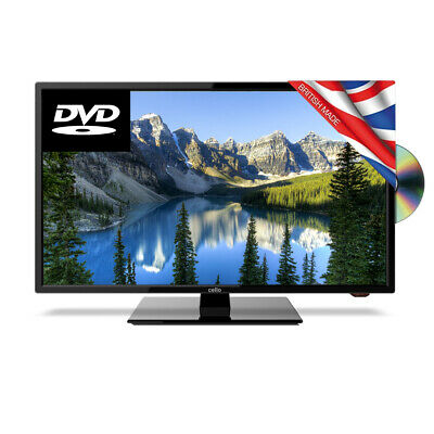 """Cello 24"""" Inch HD 12v LED Television Tv with DVD for Caravan Motorhome Truck HGV"""