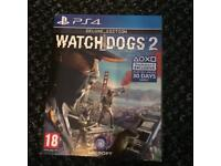 PICKUP ONLY. Watch dogs 2 ps4