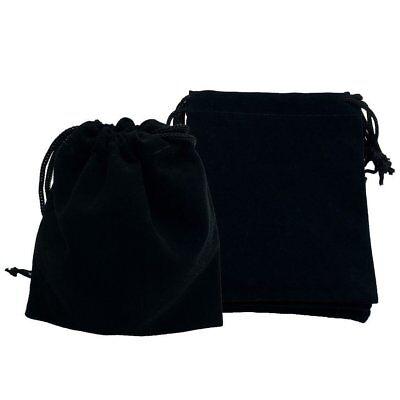 10~50Pcs Jewelry Pouches Velour Velvet Drawstring Gift Bag For Party Wedding US