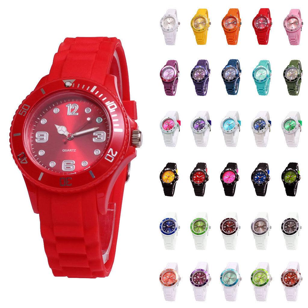 sv24 Silikon Uhr Armbanduhr Watch Damen Herren Quarz Uhren Farbwahl Modellwahl
