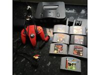 Nintendo 64 console and 7 games