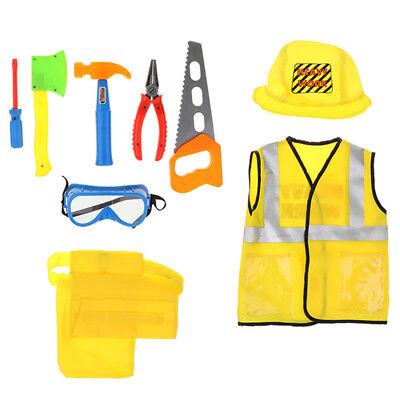 Bauarbeiter Kostüm Rollenspiel Repair Kit Rolle vorgeben Dress Up Toy