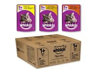 BNIB Whiskas Selection in Gravy Cat Food Pouches 84 pk. Flavours: Chicken, Poultry & Turkey
