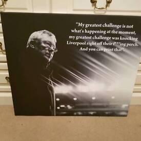 Man Utd Alex Ferguson canvas
