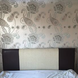 King size bed frame and head board