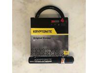 Bike Lock, Bicycle Lock, Kryptonite Keeper 12 Standard D Lock.