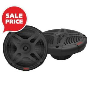 "PYLE PLMR652B Dual 600 Watt 2-Way Coaxial 6.5"" Waterproof Marine Speakers (Pair)"