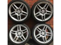 Mercedes Benz 18 inch amg style alloy wheels & tyres C Class alloys E Vito golf a3 rims caddy van 19