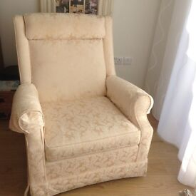 ARMCHAIRS X 2 MATCHING IN CREAM COTTON