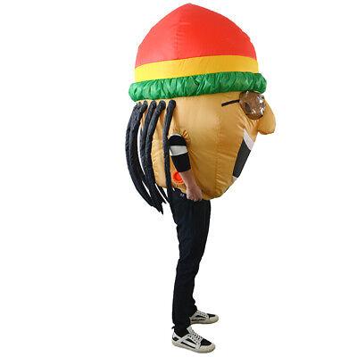 Aufblasbare Kostüme Halloween Party Lustige Jamaican Suits Cosplay Foto