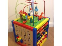 Toddler wooden activity cube