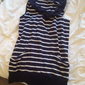 Blue and white dress. Size 14