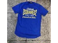 Dsquared blue/yellow t shirt