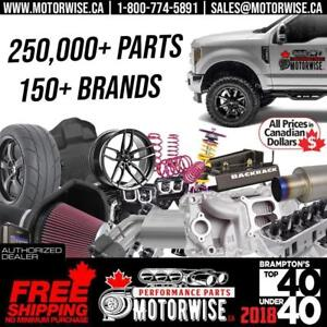 www.Motorwise.ca | Engine Parts, Tonneau Covers, Exhaust, Intakes, Floor Liners, Lift Kits, Leveling Kits