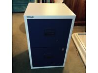 Two drawer Bisley metal Filing Cabinet