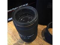 Sigma 50-150 f2.8 II APO EX DC (nikon fit)