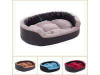 New Luxury Eco-Leather Suede Puppy Dog Cat sofa bed water resistant cozy pillow