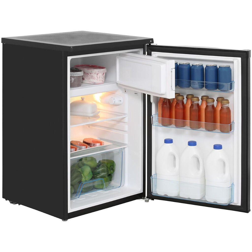 LEC Fridge. LecR5511B. Black. Brand new. Cost £179- Sell for £100 (Wrong size bought).