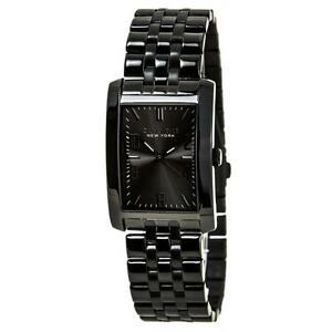 Caravelle New York by Bulova Men's 45A117 Analog Display Japanese Quartz Black Watch