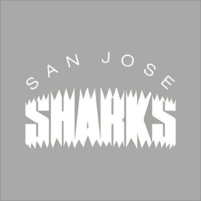 San Jose Sharks #4 NHL Team Logo 1Color Vinyl Decal Sticker Car Window Wall