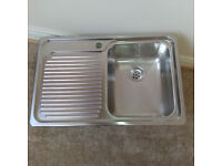 Blanco Classic 4S Single Inset Kitchen Sink with Right Hand Bowl, Stainless Steel. As New unused