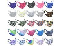100 Polyester Patterned Face Masks - Essential During Pandemic