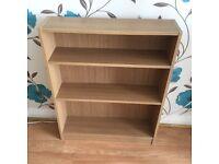 Oak effect wooden bookcase
