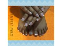 Manicure pedicure gel extensions and infills