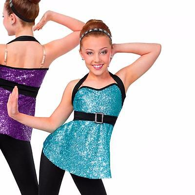 Dance CostumE Child Costume Blue 2pc Jazz Sequin Tap Solo Competition Pageant
